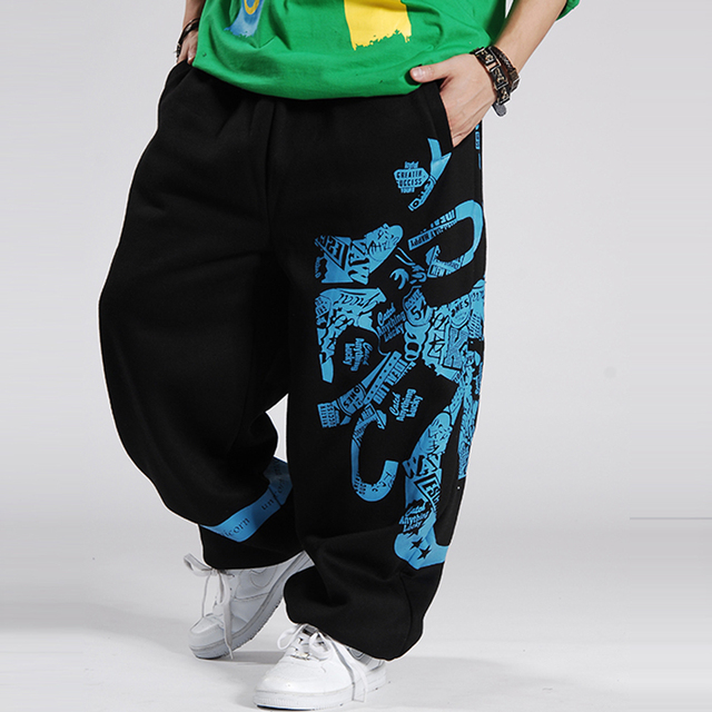 2016 Fashion Mens Joggers Printed Designer male Baggy Hip Hop Jogger Pants open air Sweatpants Men Trousers Pantalon Homme B85