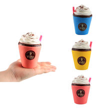 AntiStress Squishy Toys Ice Cream Coffee Cup Squeeze Toys Smooshy Mushy Slime Slow Rising Stress Relief Toys for Children(China)