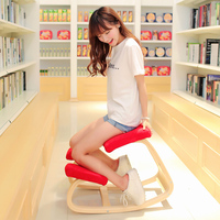 WOODEN ERGONOMIC KNEELING CHAIR IN FOLDED EXPORT TO JAPAN AND SO ON