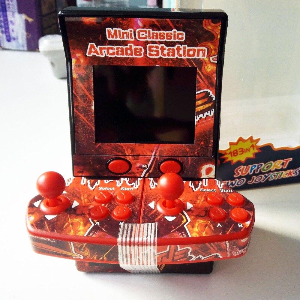 Unterhaltungselektronik Videospielkonsolen 8bit 2,8 Inch Tragbare Mini Retro Klassische Handheld Spiel Arcade Station Eingebaute 183 Spiele Münz Video Konsole 2 Spieler
