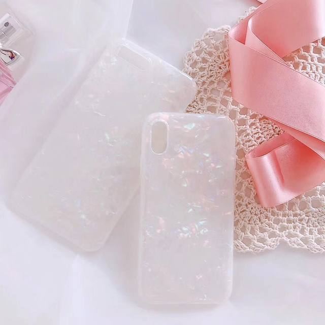 Luxury Glitter Phone Case For iPhone 7 8 Plus Dream Shell Pattern Cases For iPhone XR XS Max 7 6 6S Plus Soft TPU Silicone Cover 5