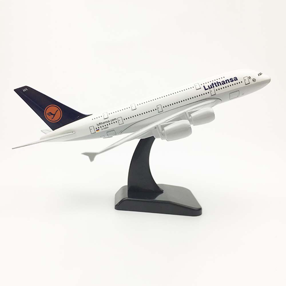 20cm Aircraft Airbus A380 Germany Lufthansa Alloy Plane Model Toys Children Kids Gift for Collection image