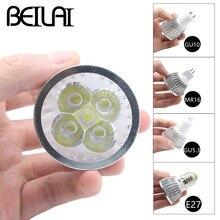 BEILAI 10PCS Dimmable LED Lamp E27 220V 110V GU10 LED Spotlight 3W 4W 5W 85-265V MR16 12V GU5.3 Bombillas LED Bulbs Light Luz