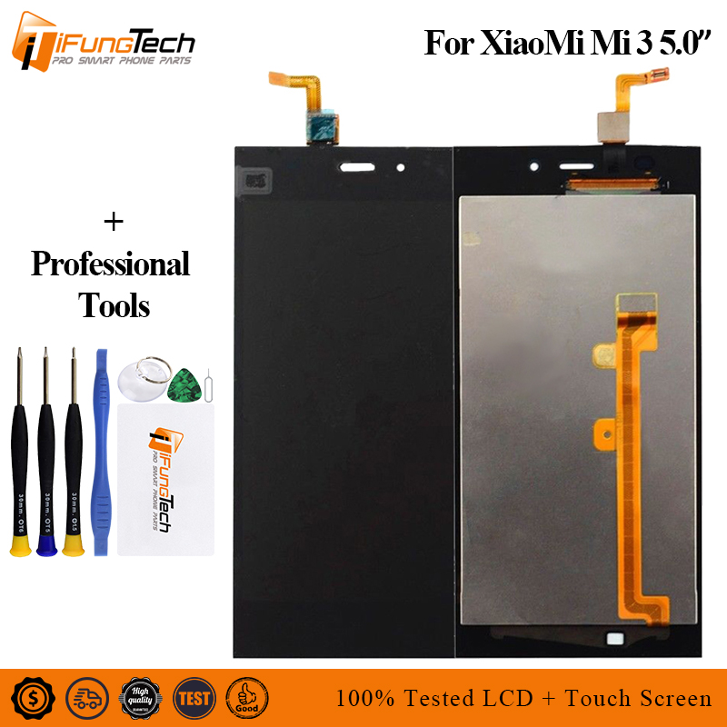 LCD For Xiaomi Mi3 Display 100% Tested AAA 5 inch IPS XiaoMi Mi 3 With Touch Screen Digitizer Assembly
