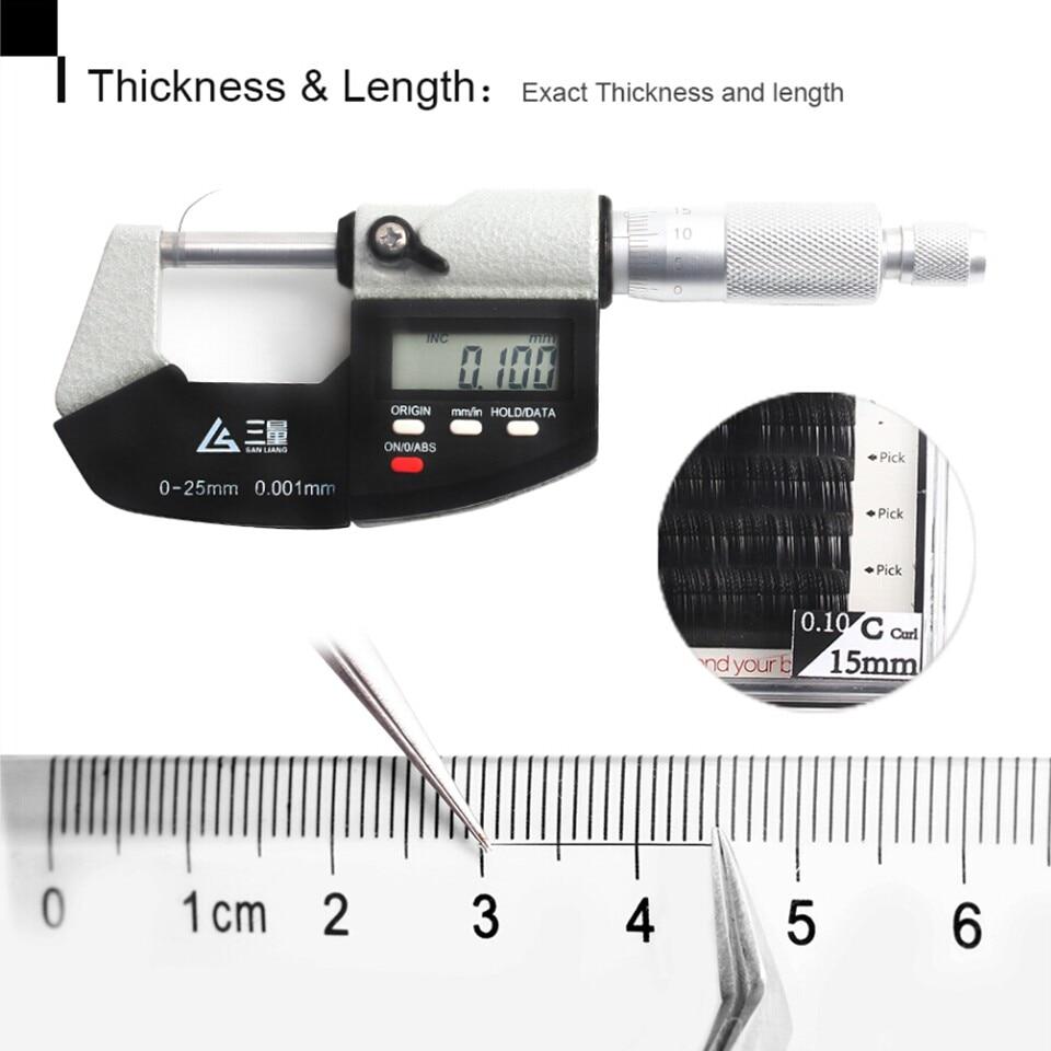Thinkshow 8-15mm 12 linii / zasobnika Rosja 3D Lashes Materiały - Makijaż - Zdjęcie 5
