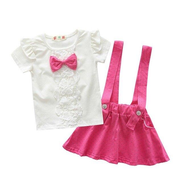 67fba6aa7 BibiCola 2017 summer clothing sets For baby girls toddler children ...