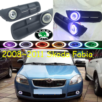 Fabia fog light 2008~2011 Free ship!Fabia daytime light,2ps/set+wire ON/OFF:Halogen/HID XENON+Ballast,Fabia