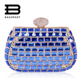 BAGSMART Wedding Bling-bling Women Evening Clutches Party Bag Striking Rhinestones Clasp Flap Purse Evening Bag Diamond Clutch