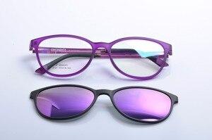 Image 1 - DEDING משקפיים עם מגנטי קליפ על משקפי שמש קוצר ראיה נהיגה משקפיים מקוטב משקפי שמש קליפ על שמש משקפיים DD1404
