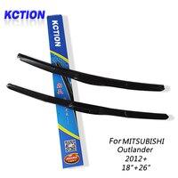 Car Windshield Wiper Blade For Mitsubishi Outlander 2012 18 26 Natural Rubber Three Segmental Type Car