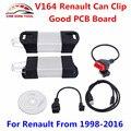 Новейшие V164 Renault Может Закрепить Диагностический Интерфейс Может Закрепить V164 Для Renault Авто OBD2 Сканер Поддержка Полная Функция Свободный Корабль