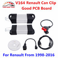 Newest V164 Renault Can Clip Diagnostic Interface Can Clip V164 For Renault Auto OBD2 Scanner Support Full Function Free Ship