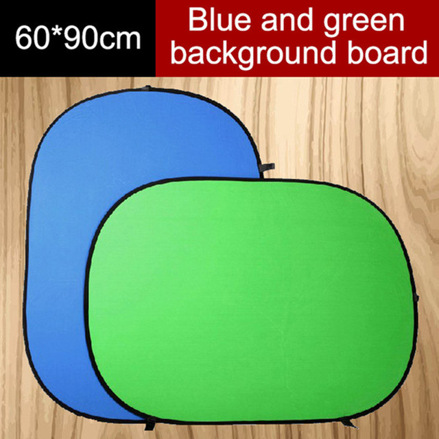 US $19 99 49% OFF|Hanmi 60*90CM 2 in 1 Collapsible Reflector Blue Green  Screen Chromakey Photography Light Reflecteur Photo Studio Light  Reflector-in