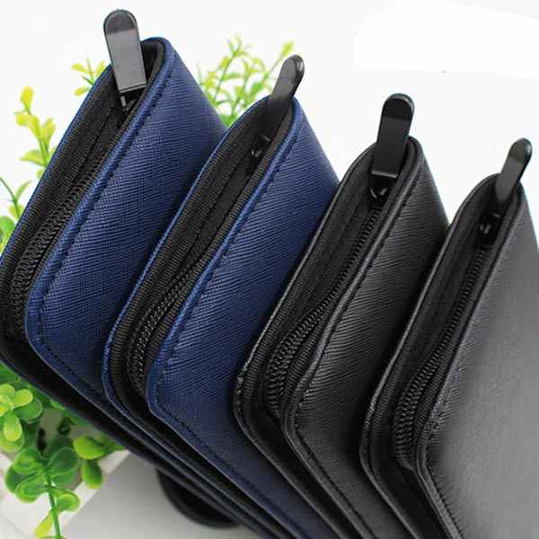 Professional Barber Salon Scissor Bag PU Leather Shears Case Hairdressing Holder Hair Scissors Holster Pouch QS888