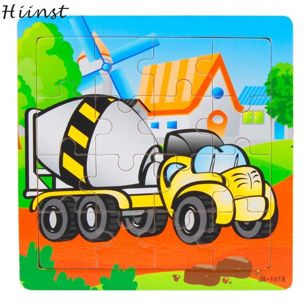 Met Goed Opvoeding Hiinst Bestseller Houten Kids Piece Jigsaw Speelgoed Speciale Auto Stijl Speelgoed Groothandel S7