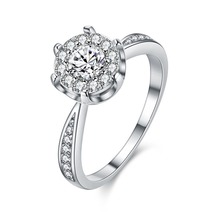 NEW ARRIVAL Popular hot RING Silver color durable Plated whi