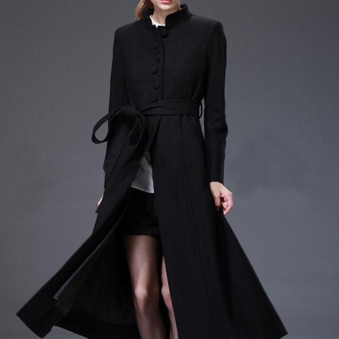 Popular Long Wool Swing Coat-Buy Cheap Long Wool Swing Coat lots