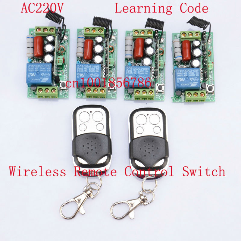 FreeShipping AC220V 1CH 10A 1000W RF Wireless Push Remote Control Light Switch System Toggle Momentary Latched freeshipping rs232 to zigbee wireless module 1 6km cc2530 chip