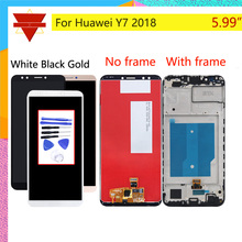 Original For Huawei Y7 2018 LCD LDN L01 LDN L21 LDN LX3 LCD Display Touch Screen Assembly With Frame Y7 Prime 2018 LCD Digitizer