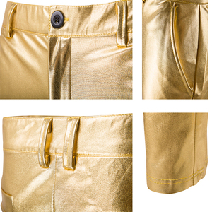 Image 5 - Men 2 Pieces Set Costumes Golden Performance Show Suit And Pants Set Trouser Plus Size Male Party Costumes Clothing Silver Pants