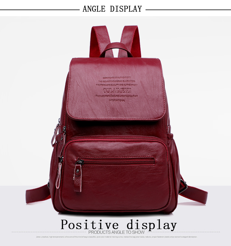 LANYIBAIGE 2018 Women Backpack Designer high quality Leather Women Bag Fashion School Bags Large Capacity Backpacks Travel Bags