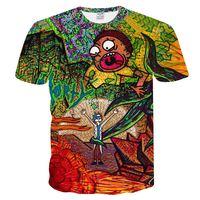 Hot Summer Fashion Anime Cool Rick Morty 3D Print Men Women T Shirt Man Shirt Casual