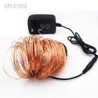 SPLEVISI 50M 164Ft 500 Leds Copper Wire LED String Light Starry Garland Christmas Lights Lightsluces decorativas + Power Adapter