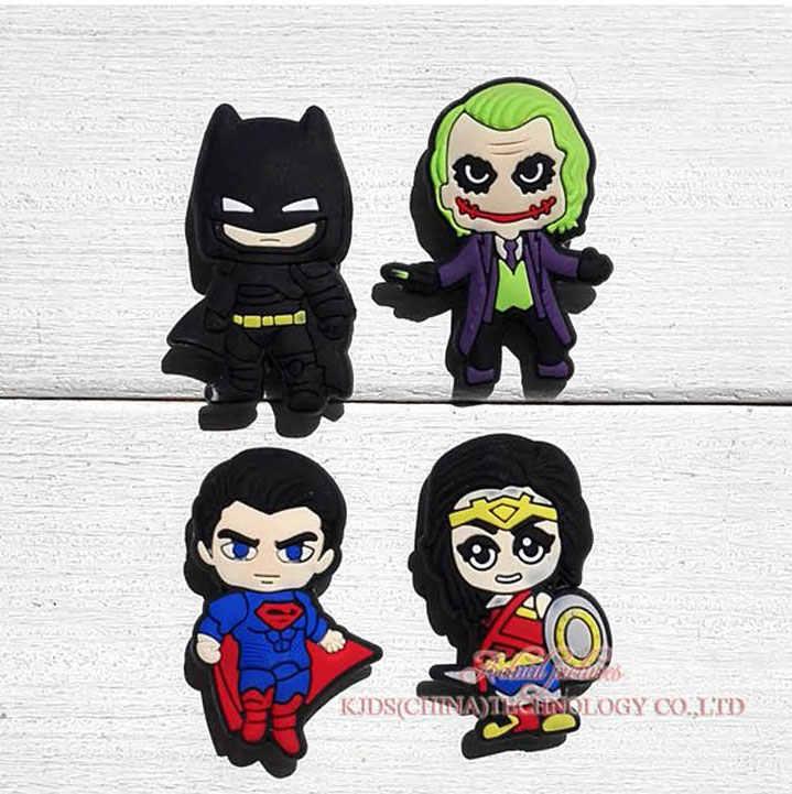 ขายเดียว batman vs superman 1 ชิ้น PVC Charms รองเท้า, รองเท้าอุปกรณ์ Fit Bands สร้อยข้อมือ Croc JIBZ, เด็ก X - mas ของขวัญ