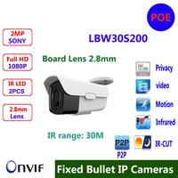 Board Lens 2 8mm Outdoor IP Camera 1080P Full HD Onvif P2P Plug And Play IR