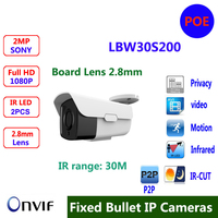 Board Lens 2 8mm Outdoor IP Camera 1080P Full HD Onvif P2P Plug And Play IR