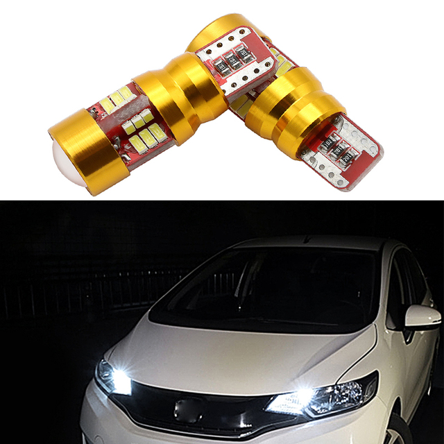 2 x LED Canbus T10 W5W 3014 27SMD Car LED Light Lamp Bulb Interior For VW Tiguan Scirocco Passat b6 b7 Jetta Golf 5 6 7 MK5 CC