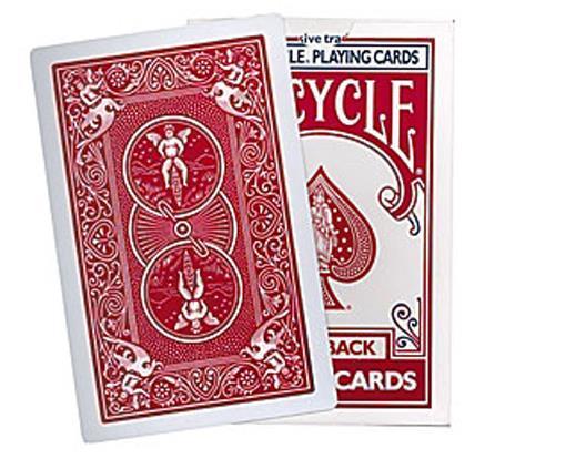Vélo de pont Jumbo Mirage pour acolyte Jumbo (rouge, clubs 4) tours de magie, Illusion, mentalisme, accessoires Magia