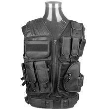 Тактический Жилет Открытый Камуфляж Военная Бронежилет Спортивная Одежда Охота Жилет Армия Swat Molle Vest Черный для Полиция Airsoft Охота