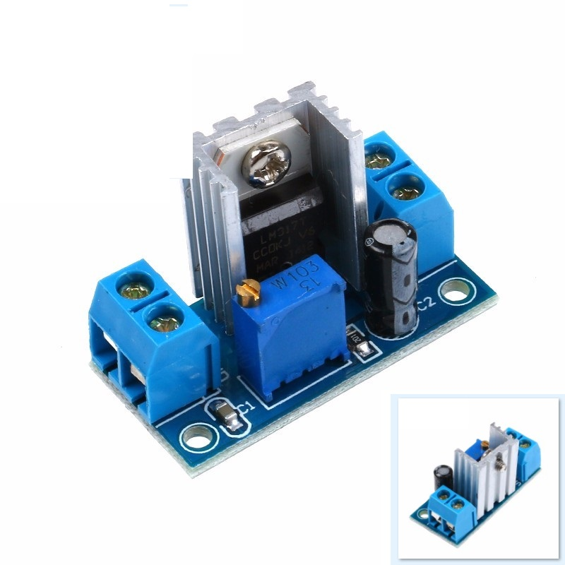 2 PCS LM317 DC-DC Converter Buck Step Down Circuit Board Module Linear Regulator LM317 Adjustable Voltage Regulator Power Supply dc dc automatic step up down boost buck converter module 5 32v to 1 25 20v 5a continuous adjustable output voltage
