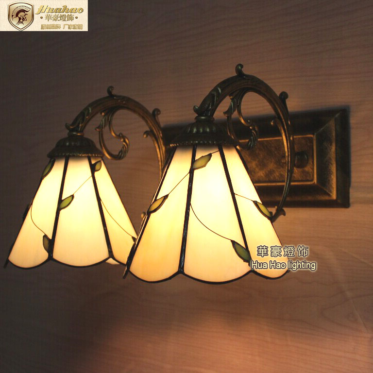 Europe and the United States creative wall lamp Liu lighting bedroom bed lamp bathroom mirror lamp DF35 american creative fashion led the study bedroom mirror before the long arm of the head of a bed wall lamp wrought iron long arm