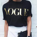 Fashion Brand Vogue Print Women T Shirts O-Neck Short Sleeve Summer Tops Tees