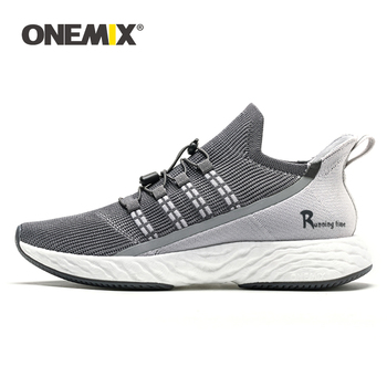 ONEMIX Men's Running Shoes Shock Absorbing Socks Shoes Light Breathable Mesh Casual Shoes 47 Luxury Brand Men Sneakers Size 46