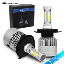 MALUOKASA 2PCs S2 H7 H4 LED Bulb Car Headlight H11 H1 H13 H3 H27 9005 HB3
