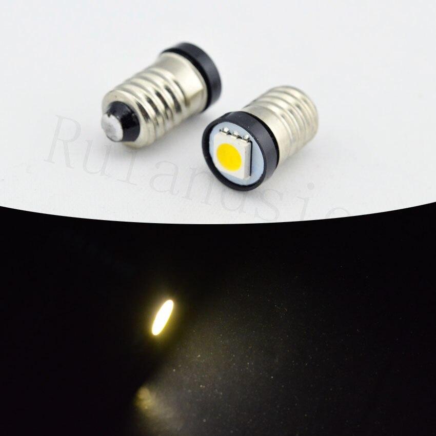 High quality 24V Warm White Bulb Indicator E10 5050 1SMD Led Instrument Light Pilot Lamp 2/4/10/20/50/100pcs/lot