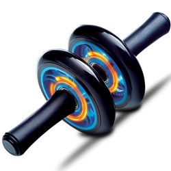 Premium abs metal bearing double wheels roller coaster belly exercise strength training rollers gym fitness.jpg 250x250