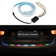Car Rear Trunk Tail Light RGB Dynamic Streamer Brake Turn Signal Lamps Leds Warning Lights Strips LED Strip Lighting Car-styling