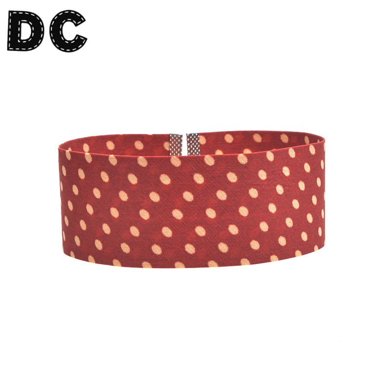 Cute 3 Color Cotton Cloth Polka Dots Short Choker Necklace Wide Chocker Clavicle Necklaces Jewelry Women Collar F6142