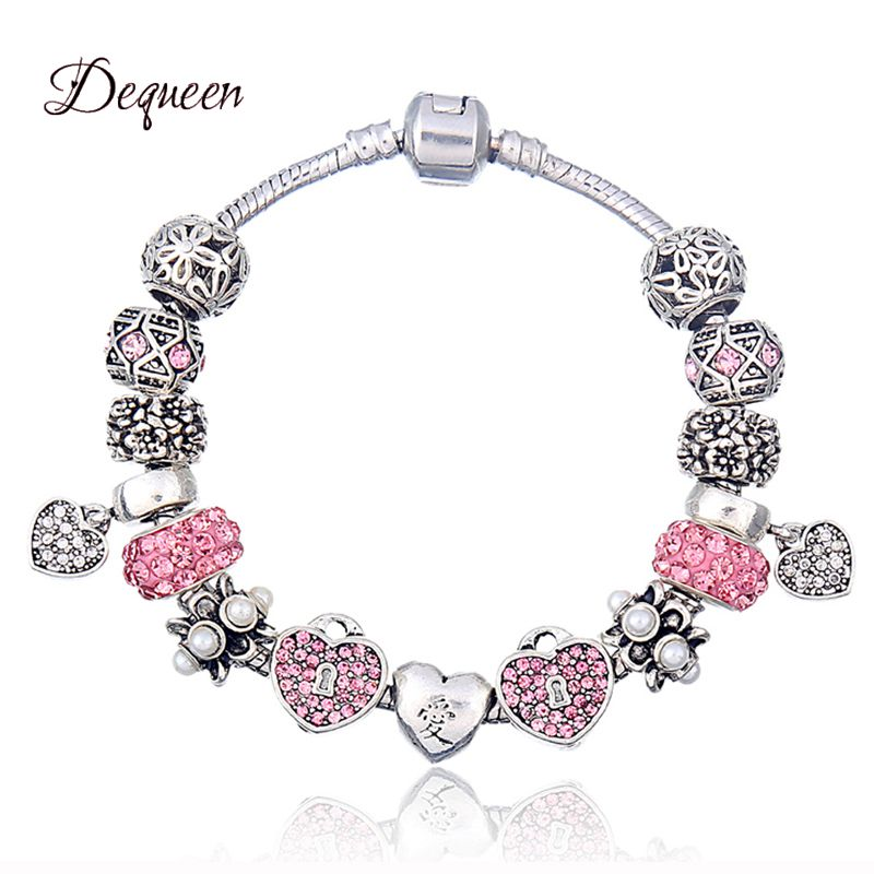 New Arrival <font><b>Charm</b></font> <font><b>Bracelet</b></font> Love Heart <font><b>Charms</b></font> <font><b>Pan</b></font> <font><b>Bracelets</b></font> For Women Fashion DIY Jewelry Free Shipping image