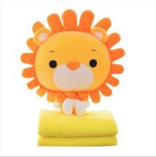 WYZHY Creative new lion doll fox hug pillow cat air conditioning blanket Pillow 45cm 110*160cm