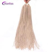 """Chorliss22 """"(56 см) дреды волос химическое вязанная косами одного заканчивается страх волос светлый блондин 24strands/1 шт."""