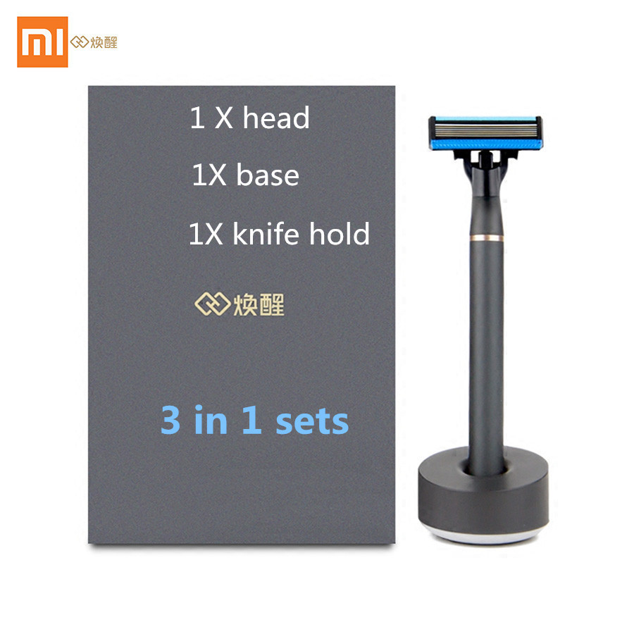 Image 2 - Original xiaomi mijia Men Women Shave Razor ,3 in 1 Sets Magbetic replace the clip For xiaomi smart home kit-in Electric Shavers from Home Appliances