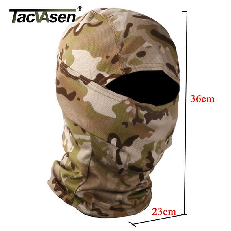 TACVASEN taktik kamuflaj Balaclava tam yüz maskesi Wargame avı çekim ordu Bike askeri kask astar savaş Airsoft dişliler