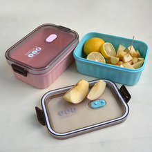 1080ml Simple Lunch Box For Kids Japanese Bento Boxes meal prep plastic box For Food Lunch Box Containers Office lunchbox