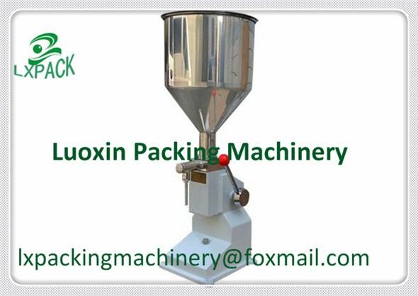 LX-PACK Lowest Factory Price Food filling machine Manual hand pressure stainless paste dispensing liquid packaging equipment