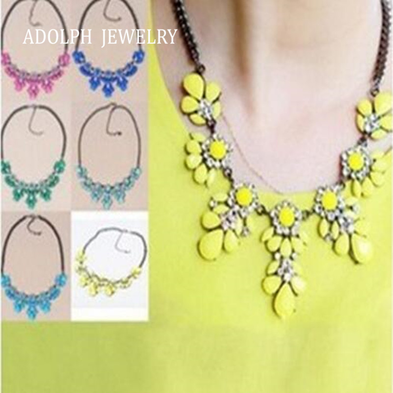 ADOLPH Jewelry SALE 2014 New Pop 11 Colors Good Quality Fashion Western Statement Elegant Rhinestones Choker Necklace